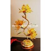 โคไฟฟ้ามช่อดอกบัวสามดอกสีเหลือง ขนาดสูง 35 cm