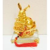 กระต่ายมงคลกับโอ่งเงินทอง ขนาด 7 นิ้ว