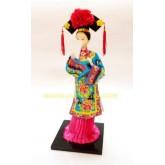 ตุ๊กตาจีน แต่งกายเจ้าหญิงราชวงศ์ชิง  ขนาด 12 นิ้ว