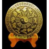 เหรียญทองเหลืองจีนโบราณ 12 นักษัตร ขนาด 5 นิ้ว