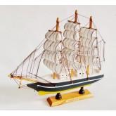 เรือสำเภาไม้ตั้งโชว ขนาด 9 นิ้ว