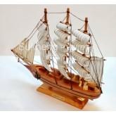 เรือสำเภาไม้ตั้งโชว ขนาด 14 นิ้ว
