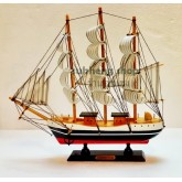 เรือสำเภาไม้ตั้งโชว์ ขนาด 12 นิ้ว