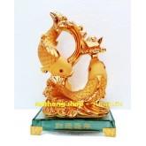 ปลาหลี่ฮื้อทองคู่มงคล ขนาด  6 นิ้ว