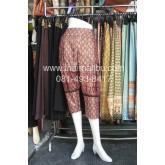 กางเกงแฟชั่น ทรงขี่ม้า ผ้าไทย หรือพื้นสี