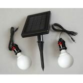 โคมไฟพลังงานแสงอาทิตย์ ขนาดหลอด LED 20 หลอด จำนวน 2 หลอด