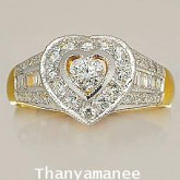 แหวนทองคำเพชรเบลเยียมแท้ 0.88 กะรัตพร้อมใบรับประกันจากสถาบัน
