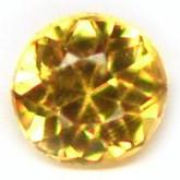 พลอยบุษราคัมแท้ (Yellow Sapphire) 0.015 กะรัต ขนาด 1.2 mm. พลอยสวยมาก คุณภาพดี