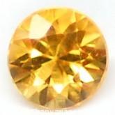 พลอยบุษราคัมแท้ (Yellow Sapphire) 0.06 กะรัต ขนาด 2.2 mm. พลอยสวยมาก คุณภาพดี
