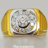 แหวนทองคำเพชรเบลเยียมแท้ 0.95 กะรัต สินค้ามีใบรับประกันทุกชิ้น