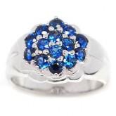 แหวนไพลิน 1.27 กะรัต ตัวเรือนทองคำแท้90 สินค้ามีใบรับประกันจากทางร้านทุกชิ้น