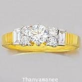 แหวนเพชรแท้เบลเยียม0.61 กะรัต ตัวเรือนทองคำแท้ 90 สินค้ามีใบรับประกันจากทางร้านทุกชิ้น