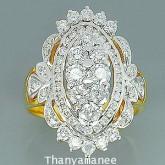 แหวนทองคำแท้ 90 ประดับเพชรแท้เบลเยียม 1.69 กะรัต สวยมาก