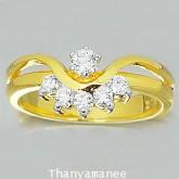 แหวนทองคำแท้ 90 ประดับเพชรแท้เบลเยียม0.34กะรัต สวยงามมาก