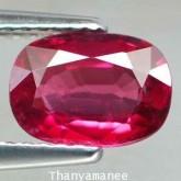 พลอยโรโดไรท์ การ์เน็ท 1.56 กะรัต จำนวน 1 เม็ด สีแดง