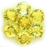 พลอยบุษราคัม  1.07  กะรัต จำนวน 7  เม็ด สีเหลือง