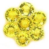 พลอยบุษราคัม  1.18  กะรัต จำนวน 7  เม็ด สีเหลือง