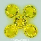 พลอยบุษราคัม  0.93  กะรัต จำนวน 5  เม็ด สีเหลือง