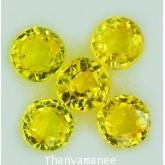 พลอยบุษราคัม  0.94 กะรัต จำนวน 5  เม็ด สีเหลือง