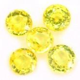 พลอยบุษราคัม  1.03 กะรัต จำนวน 5  เม็ด สีเหลือง