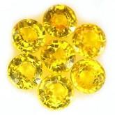 พลอย บุษราคัม 1.36 กะรัต  จำนวน 7  เม็ด  สีเหลือง