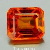 พลอย สเป็กซาไทร์ การ์เน็ต  1.27  กะรัต  จำนวน 1  เม็ด  ไม่เผา/สีส้ม