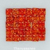 พลอยทับทิม  2.81  กะรัต จำนวน  30   เม็ด  สีแดงส้ม