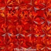 พลอยทับทิม   2.8   กะรัต จำนวน  30  เม็ด  สีแดงส้ม