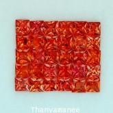พลอยทับทิม   2.58   กะรัต จำนวน  30  เม็ด  สีแดงส้ม