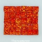 พลอยทับทิม  2.70  กะรัต จำนวน 30  เม็ด  สีแดงส้ม