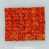 พลอยทับทิม  2.92  กะรัต จำนวน 30  เม็ด  สีแดงส้ม