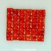 พลอยทับทิม   2.86   กะรัต จำนวน  30  เม็ด  สีแดงส้ม