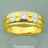 แหวนทองคำแท้ 90  ประดับเพชรแท้เบลเยี่ยม 0.55 กะรัต พร้อมใบรับประกันจากทางร้าน