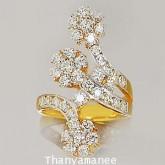 แหวนทองคำแท้ 90ประดับเพชรเบลเยี่ยมแท้ 1.89กะรัตสวยงาม ทันสมัย ดีไซร์สวย เรียบหรูมากๆ สินค้ามีใบรับปร