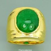แหวนทองคำแท้90 ประดับพลอยกรีนการ์เน็ต 12 กะรัต สินค้ามีใบรับประกันจากทางร้านทุกชิ้น