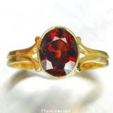 แหวนพลอยทองคำแท้ 90 ประดับพลอยโกเมน  2.22 กะรัต สินค้ามีใบรับประกันจากทางร้านทุกชิ้น