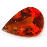 พลอย สเป็กซาไทร์ การ์เน็ต  0.79   กะรัต  จำนวน 1เม็ด  ไม่เผา/สีส้มแดงเข้ม