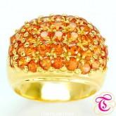 แหวนพลอยทองคำแท้ 90 ประดับพลอยบุศราคัม 5.64 กะรัต สินค้ามีใบรับประกันจากทางร้านทุกชิ้น