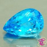 พลอย บลูโทพาส แท้  11.65 กะรัต  สีฟ้า