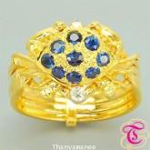 แหวนพลอยไพลิน 0.61 กะรัต พร้อมเพชรแท้เบลเยียม รับประกันสินค้าจากทางร้านทุกชิ้น