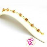 สร้อยข้อมือทับทิม 10.46 กะรัต ทองคำ 90 สินค้ามีใบรับประกันจากทางร้านทุกชิ้น