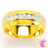 แหวนพลอยทองคำแท้ 90 พร้อมเพชรแท้เบลเยียม 0.43 กะรัต สินค้ามีใบรับประกันจากทางร้านทุกชิ้น