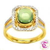 แหวนพลอยทองคำแท้ 90 ประดับพลอยพีไนท์ 2.41 กะรัต พร้อมเพชรแท้เบลเยียม 0.28กะรัต สินค้ามีใบรับประกันจา
