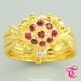 แหวนพลอยทับทิม  1.36  กะรัต พร้อมเพชรแท้เบลเยียม 0.38 กะรัต รับประกันสินค้าจากทางร้านทุกชิ้น