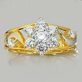 แหวนทองคำแท้ 90 พร้อมเพชรแท้เบลเยียม 0.72 กะรัต สินค้ามีใบรับประกันทุกชิ้น