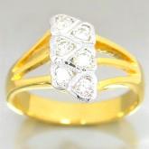 แหวนทองคำแท้ 90 ประดับเพชรแท้เบลเยียม 0.34 กะรัต สินค้ามีใบรับประกันจากทางร้านทุกชิ้น