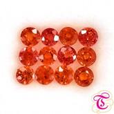 พลอยส้ม (Orange Sapphire) 1.23 กะรัต