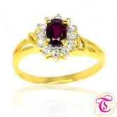 แหวนทองคำแท้ 90 ประดับพลอยทับทิมสยาม 0.85 กะรัต พร้อมประดับด้วยเพชรเบลเยี่ยม 0.24 กะรัต สินค้ามีใบรั