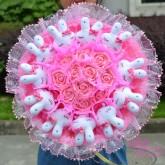 ช่อดอกไม้ D08 สีชมพู
