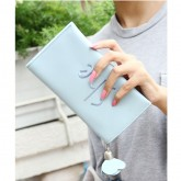 Gifbest-12411 กระเป๋าสตางค์ หญิง สามารถใส่ iPhone7 สีฟ้า